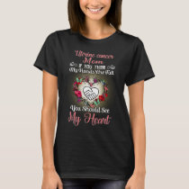 uterine cancer mom full heart T-Shirt