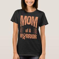 Uterine Cancer Mom Of Warrior Autism Awareness T-Shirt