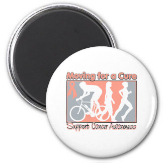 Uterine Cancer  Moving For A Cure 2 Inch Round Magnet