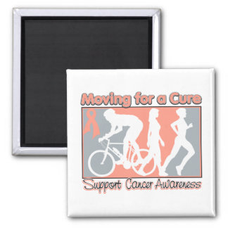 Uterine Cancer  Moving For A Cure 2 Inch Square Magnet