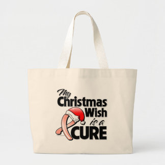 Uterine Cancer My Christmas Wish is a Cure Tote Bag