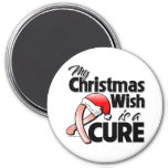 Uterine Cancer My Christmas Wish is a Cure Fridge Magnets