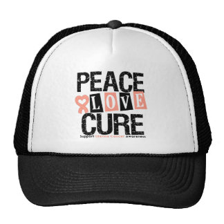 Uterine Cancer  Peace Love Cure Trucker Hats