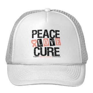 Uterine Cancer Peace Love Cure Hats