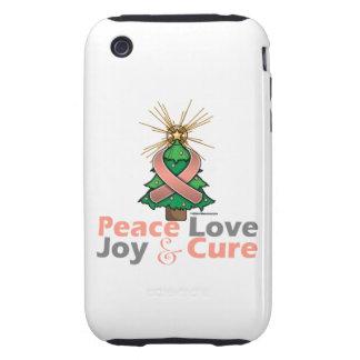 Uterine Cancer Peace Love Joy Cure iPhone 3 Tough Case