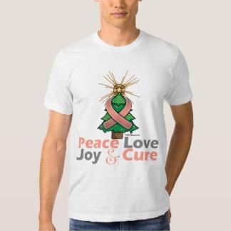 Uterine Cancer Peace Love Joy Cure Tees