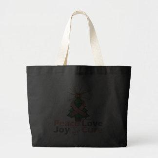 Uterine Cancer Peace Love Joy Cure Tote Bag
