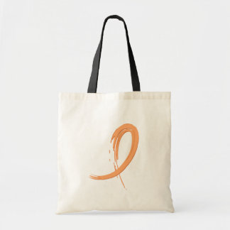 Uterine Cancer Peach Ribbon A4 Tote Bag