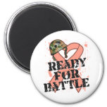 Uterine Cancer Ready For Battle 2 Inch Round Magnet