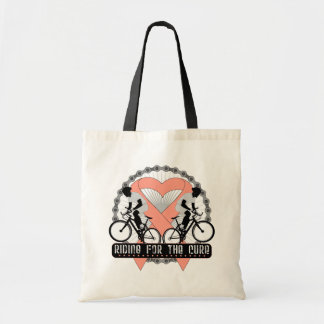 Uterine Cancer Riding For The Cure Canvas Bags