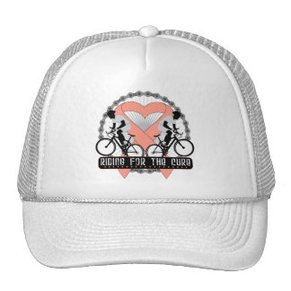 Uterine Cancer Riding For The Cure Hat