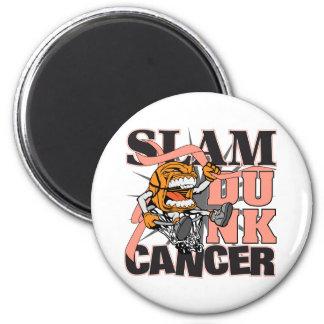 Uterine Cancer - Slam Dunk Cancer 2 Inch Round Magnet