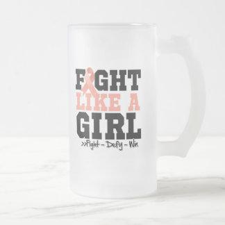 Uterine Cancer Sporty Fight Like a Girl Mug