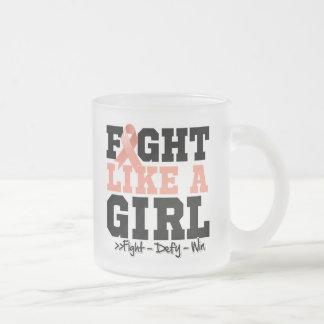 Uterine Cancer Sporty Fight Like a Girl Coffee Mug