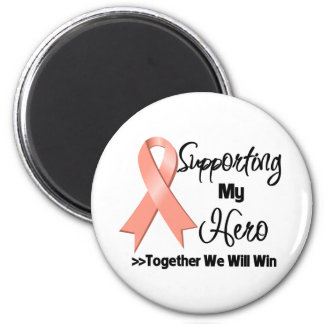 Uterine Cancer Supporting My Hero 2 Inch Round Magnet