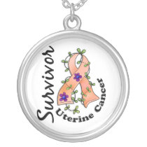 Uterine Cancer Survivor 15 Silver Plated Necklace