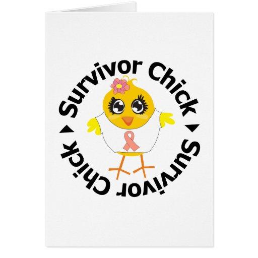 Uterine Cancer Survivor Chick Card