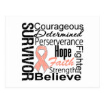 Uterine Cancer Survivor Collage Postcard