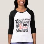 Uterine Cancer Survivor Collage Tee Shirt