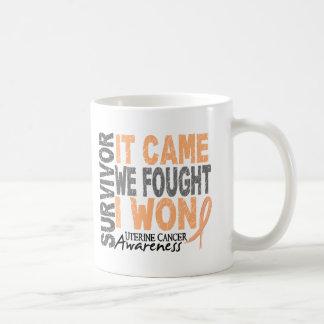 Uterine Cancer Survivor It Came We Fought I Won Coffee Mug