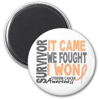 Uterine Cancer Survivor It Came We Fought I Won Refrigerator Magnet