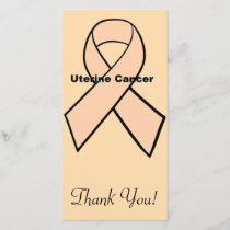 Uterine Cancer Thank You Card