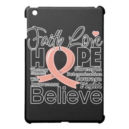 Uterine Cancer Typographic Faith Love Hope Case For The iPad Mini