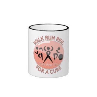 Uterine Cancer Walk Run Ride For A Cure Coffee Mug