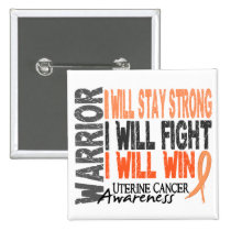 Uterine Cancer Warrior Button