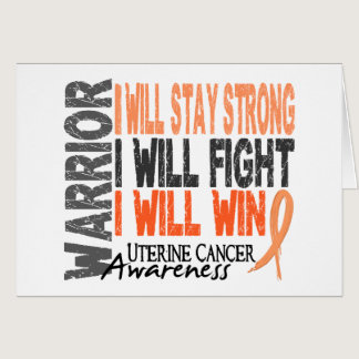 Uterine Cancer Warrior Card