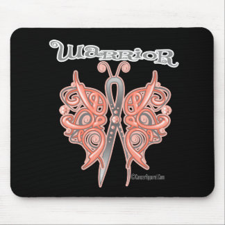 Uterine Cancer Warrior Celtic Butterfly Mouse Pad