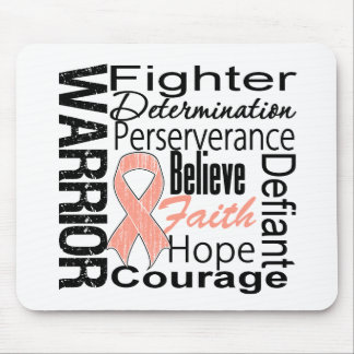 Uterine Cancer Warrior Collage Mouse Pad