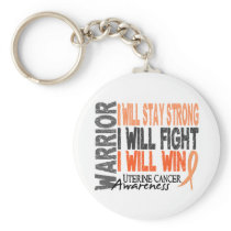 Uterine Cancer Warrior Keychain