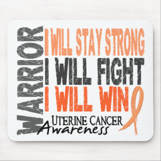 Uterine Cancer Warrior Mouse Pad