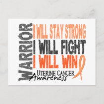 Uterine Cancer Warrior Postcard