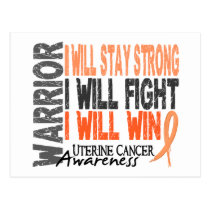 Uterine Cancer Warrior Postcard
