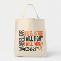 Uterine Cancer Warrior Tote Bag