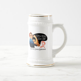 Uterine Cancer We Can Do It Rosie The Riveter Coffee Mug