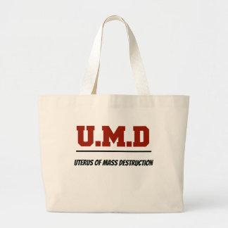 Uterus of Mass Destruction Large Tote Bag