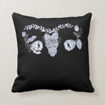 Uterus Surgery Female Floral Hysterectomy Get Well Throw Pillow