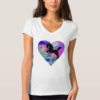Utherworld Leaping Unicorn Planetscape T-Shirt