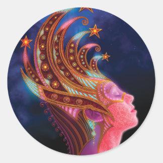 Utherworlds: Celestial Queen Classic Round Sticker
