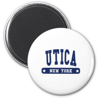 Utica New York College Style tee shirts 2 Inch Round Magnet