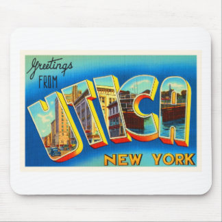 Utica New York NY Old Vintage Travel Souvenir Mouse Pad