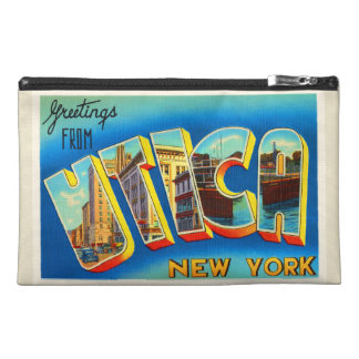 Utica New York NY Old Vintage Travel Souvenir Travel Accessory Bag