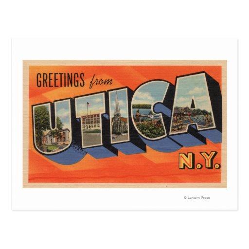 Utica, New YorkLarge Letter ScenesUtica, NY Postcard