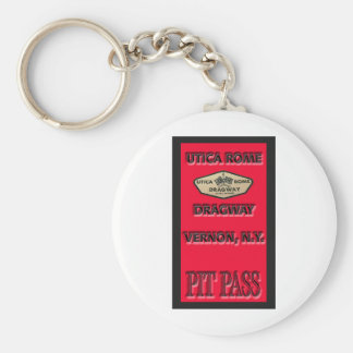 Utica Rome Dragway Pit Pass Keychain