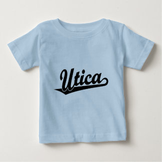 Utica script logo in black baby T-Shirt