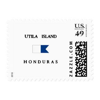 Utila Island Honduras Alpha Dive Flag Stamps