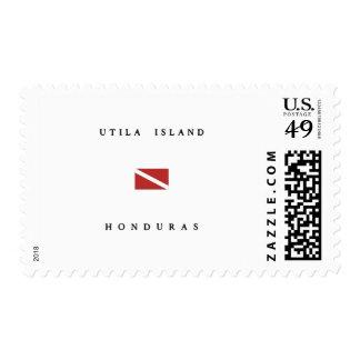 Utila Island Honduras  Scuba Dive Flag Postage Stamp